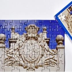 Puzzle z Syrenką warszawską
